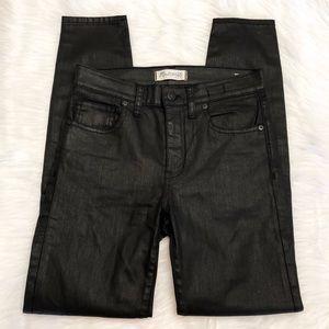 Madewell Pants High Riser Skinny Black Coated